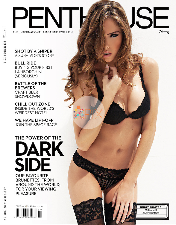 Beautiful brunette Brittany Oldehoff is the cover/feature model for the conservative edition of Penthouse magazine, Australia.<br />