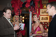 ALEX BREMER;JENNIFER GAINEY;  PHILIPPA WOODGATE, raffle ticket sellers, Charity Gala Reception in aid of the Neuroblastoma Society, Bada Antiques and Fine art Fair. Duke of York Sq.  Sloane Sq. London. 19 March 2014.