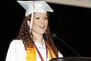 Salutatorian Elizabeth Mueller speaks during the Lebanon High School graduation at the Nutter Center in Fairborn, Saturday, May 28, 2011.
