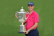 Justin Thomas<br /> After winning the US PGA Championship 2017<br /> With the trophy at Quail Hollow, NC, USA<br /> <br /> <br /> Picture Credit: Mark Newcombe/visionsingolf.com Justin Thomas<br /> After winning the US PGA Championship 2017<br /> With the trophy at Quail Hollow, NC, USA<br /> <br /> <br /> Picture Credit: Mark Newcombe/visionsingolf.com