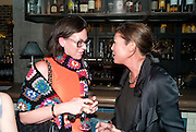 ROSIE VOGEL;KATE PHELAN, Leaving dinner for Kate Phelan given by Alex Shulman and Mary Homer. Riding House Cafe. Great Titchfield st. London. 20 September 2011. <br /> <br />  , -DO NOT ARCHIVE-© Copyright Photograph by Dafydd Jones. 248 Clapham Rd. London SW9 0PZ. Tel 0207 820 0771. www.dafjones.com.