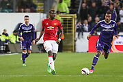 Paul Pogba Midfielder of Manchester United during the UEFA Europa League Quarter-final, Game 1 match between Anderlecht and Manchester United at Constant Vanden Stock Stadium, Anderlecht, Belgium on 13 April 2017. Photo by Phil Duncan.