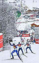 16.12.2017, Nordische Arena, Ramsau, AUT, FIS Weltcup Nordische Kombination, Langlauf, im Bild Eero Hirvonen (FIN), Startnummer 32, und andere Teilnehmer // Eero Hirvonen of Finland, BIB number 32, and other competitors during Cross Country Competition of FIS Nordic Combined World Cup, at the Nordic Arena in Ramsau, Austria on 2017/12/16. EXPA Pictures © 2017, PhotoCredit: EXPA/ Martin Huber