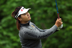 May 26, 2018 - Ann Arbor, Michigan, United States - Wichanee Meechai of Thailand tees off on the 7th tee during the third round of the LPGA Volvik Championship at Travis Pointe Country Club, Ann Arbor, MI, USA Saturday, May 26, 2018. (Credit Image: © Jorge Lemus/NurPhoto via ZUMA Press)