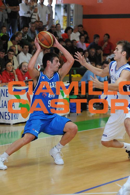 DESCRIZIONE : Domegge di Cadore 9 Torneo Internazionale Nazionali U20 Finale Italia Grecia <br /> GIOCATORE : Lorenzo d Ercole<br /> SQUADRA : Nazionale Italia Uomini U20 <br /> EVENTO : 9 Torneo Internazionale Nazionali U20 V.De Silvestro B.Meneghin <br /> GARA : Italia Grecia Italy Greece <br /> DATA : 20/07/2008 <br /> CATEGORIA : Passaggio<br /> SPORT : Pallacanestro <br /> AUTORE : Agenzia Ciamillo-Castoria/M.Gregolin