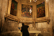 Israel, Jerusalem, Interior of the Church of the Holy Sepulchre