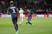 Angel Di Maria (psg), Presnel Kimpembe (PSG), Frederic GUILBERT (SM Caen) during the French Championship Ligue 1 football match between Paris Saint-Germain and SM Caen on May 20, 2017 at Parc des Princes stadium in Paris, France - Photo Stephane Allaman / ProSportsImages / DPPI