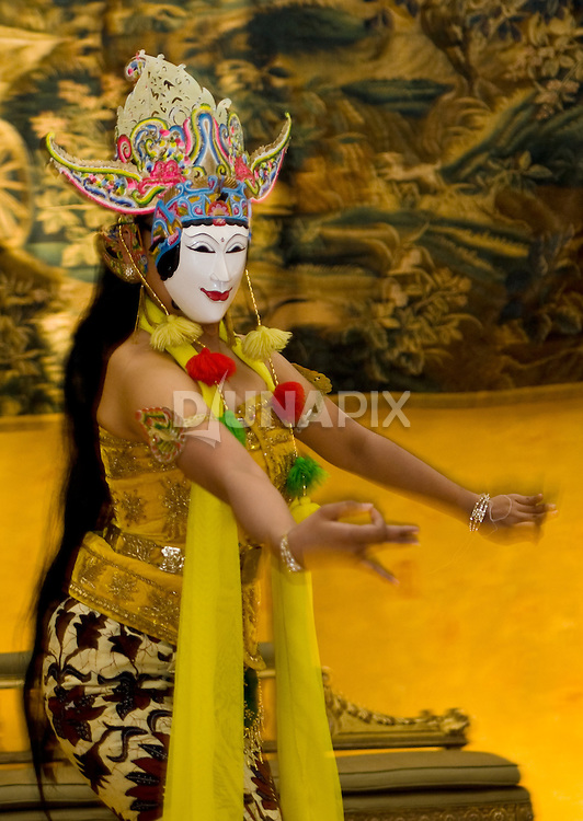 A Gunung Sari mask dance performed at the estate of Kaliandra Foundation founder Pak Bagoes Brotodiwirjo.