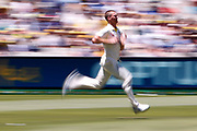 Jackson Bird runs into bowl during the Magellan fourth test match between Australia v England at  the Melbourne Cricket Ground, Melbourne, Australia on 26 December 2017. Photo by Mark  Witte.