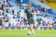 Leeds United forward Patrick Bamford (9) warming up during the EFL Sky Bet Championship match between Leeds United and Swansea City at Elland Road, Leeds, England on 31 August 2019.