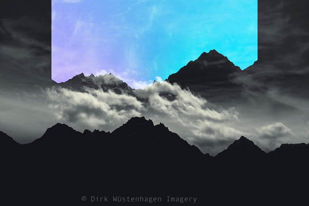 Digitally manipulated photos of a mountains landscape <br /> REDBUBBLE Prints: http://www.redbubble.com/people/dyrkwyst/works/22270654-echo-mountains-blue?p=canvas-print&amp;rel=carousel<br /> <br /> Society6 products: https://society6.com/product/echo-mountains-blue-n51_print#s6-4644763p4a1v45