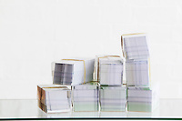 Stack of boxes of envelopes studio shot