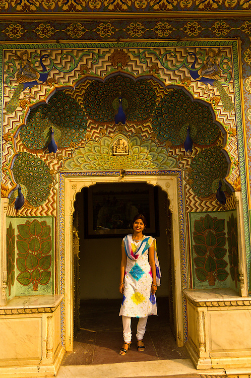 The Peacock Gate, The City Palace, Jaipur, Rajasthan, India