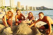 Sandcastle, Waikiki Beach, Honolulu, Oahu, Hawaii
