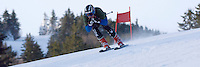 J2 alpine skier Tom Bobotas has early downhill training on the slopes of Gunstock Mountain Resort to prepare for his upcoming FIS race series.  Karen Bobotas/Photographer