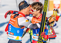 28.02.2019, Seefeld, AUT, FIS Weltmeisterschaften Ski Nordisch, Seefeld 2019, Nordische Kombination, Langlauf, im Bild v.l. Bernhard Gruber (AUT), Jarl Magnus Riiber (NOR) // f.l. Bernhard Gruber of Austria and Jarl Magnus Riiber of Norway during the Cross Country Competition of Nordic Combined for the FIS Nordic Ski World Championships 2019. Seefeld, Austria on 2019/02/28. EXPA Pictures © 2019, PhotoCredit: EXPA/ Stefan Adelsberger