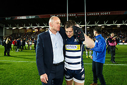 Bristol Rugby Director of Rugby Andy Robinson and the departing Matthew Morgan share a moment after winning the Championship Final and promotion to the Aviva Premiership - Mandatory byline: Rogan Thomson/JMP - 25/05/2016 - RUGBY UNION - Ashton Gate Stadium - Bristol, England - Bristol Rugby v Doncaster Knights - Greene King IPA Championship Play Off FINAL 2nd Leg.