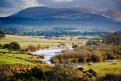 The River Clyde in spate in  South Lanarkshire near Biggar, Scotland<br /> <br /> (c) Andrew Wilson   Edinburgh Elite media