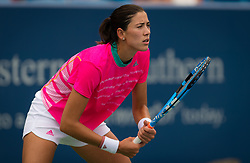 August 15, 2018 - Garbine Muguruza of Spain in action during her  second-round match at the 2018 Western & Southern Open WTA Premier 5 tennis tournament. Cincinnati, Ohio, USA. August 15th 2018. (Credit Image: © AFP7 via ZUMA Wire)