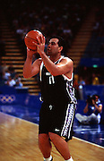 Pero Cameron during the Men's basketball match between the New Zealand Tall Blacks and France at the Olympics in Sydney, Australia on 17 September, 2000. Photo: PHOTOSPORT<br /><br /><br /><br /><br />170900 *** Local Caption ***