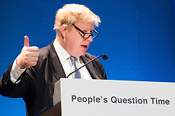Fairfields Halls, Croydon, March 3rd 2016. Boris Johnson MP is quizzed by Londoners on issues at the heart of the capital at his final People&rsquo;s Question Time as Mayor of London. &copy;Paul Davey<br /> FOR LICENCING CONTACT: Paul Davey +44 (0) 7966 016 296 paul@pauldaveycreative.co.uk