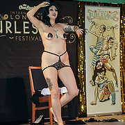 Odelia Opium preforms at the London Burlesque Festival - The Crown Jewels at Conway Hall on 19th May 2017, UK. by See Li