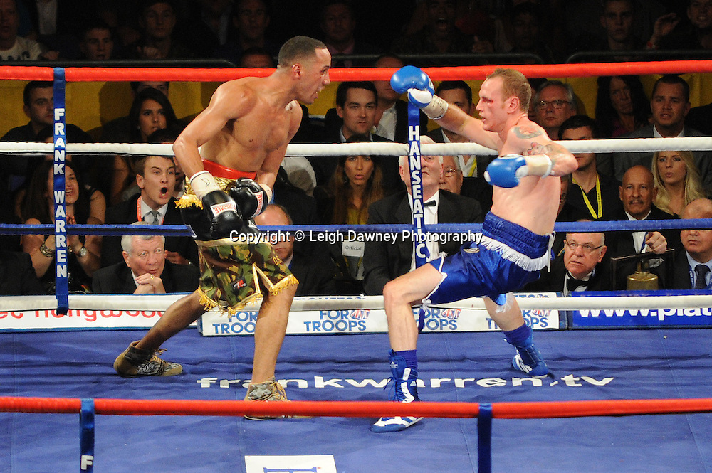 George Groves defeats James DeGale for the British & Commonwealth Super Middleweight Championship at London's O2 Arena on 21st May 2011. 12 x 3 Rounds. Frank Warren Promotions. Photo credit: Leigh Dawney