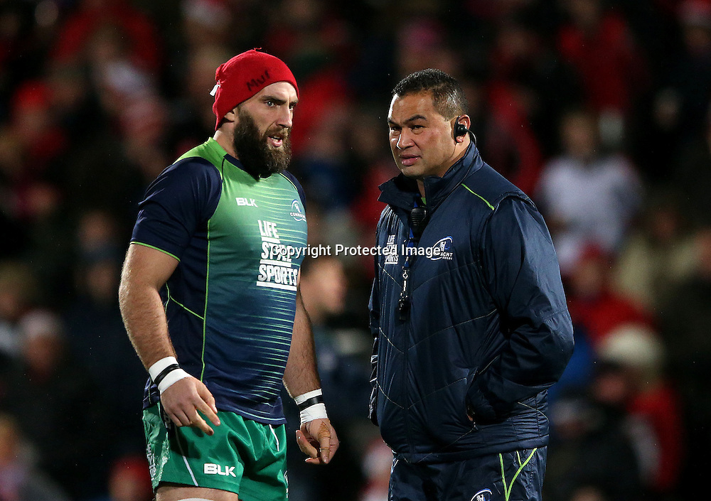 Guinness PRO12, Kingspan Stadium, Belfast 26/12/2014<br /> Ulster vs Connacht<br /> Connacht captain John Muldoon and head coach Pat Lam<br /> Mandatory Credit &copy;INPHO/James Crombie