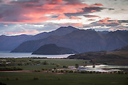 Sunrise over Lake Wanaka, Central Otago, New Zealand
