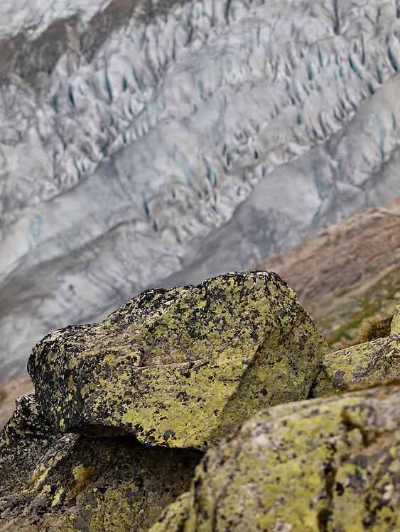 Switzerland - Aletsch glacier rocks & ice