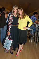 Left to right, JAN DE VILLENEUVE and her daughter DAISY DE VILLENEUVE at a party to celebrate the launch of Amy Sacco's book 'Cocktails' held at Sanderson, 50 Berners Street, London W1 on 10th July 2006.<br /><br />NON EXCLUSIVE - WORLD RIGHTS