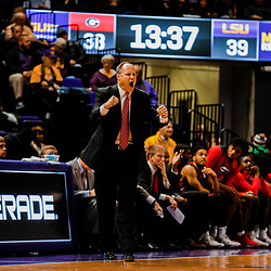 Jan 16, 2018; Baton Rouge, LA, USA; Georgia Bulldogs head coach Mark Fox during the second half against the LSU Tigers at the Pete Maravich Assembly Center. Georgia defeated LSU 61-60. Mandatory Credit: Derick E. Hingle-USA TODAY Sports