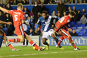 Birmingham City midfielder Jacques Maghoma about to score during the Sky Bet Championship match between Birmingham City and Milton Keynes Dons at St Andrews, Birmingham, England on 28 December 2015. Photo by Alan Franklin.