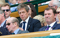 02.07.2014, All England Lawn Tennis Club, London, ENG, ATP Tour, Wimbledon, im Bild Hugh Grant in the Royal Box during the Gentlemen's Singles Quarter-Final match on day nine // during the Wimbledon Championships at the All England Lawn Tennis Club in London, Great Britain on 2014/07/02. EXPA Pictures © 2014, PhotoCredit: EXPA/ Propagandaphoto/ David Rawcliffe<br /> <br /> *****ATTENTION - OUT of ENG, GBR*****