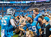 October 17, 2017: Carolina Panthers vs the Philadelphia Eagles. Charles L. Johnson