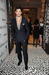 DAVID GANDY at the Liberatum Dinner hosted by Ella Krasner and Pablo Ganguli in honour of Sir V S Naipaul at The Landau at The Langham, Portland Place, London on 23rd November 2010.
