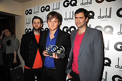Rock group Keane Tim Rice-Oxley,Tom Chaplin and Richard Hughes at the GQ Men of the Year Awards held at the Royal Opera House, London on 2nd September 2008.<br /> <br /> NON EXCLUSIVE - WORLD RIGHTS