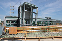 Construction Progress Railroad Station Fairfield Metro Center - Site visit 24 of once per month periodic photography