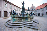 Brunnenhof Residence, Brunnenhof Residenz, with fountain in old Munich, Bavaria, Germany