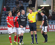 Referee Craig Thomson red cards Ross County's Terry Dunfield - Dundee v Ross County, SPFL Premiership at Dens Park<br /> <br />  - &copy; David Young - www.davidyoungphoto.co.uk - email: davidyoungphoto@gmail.com