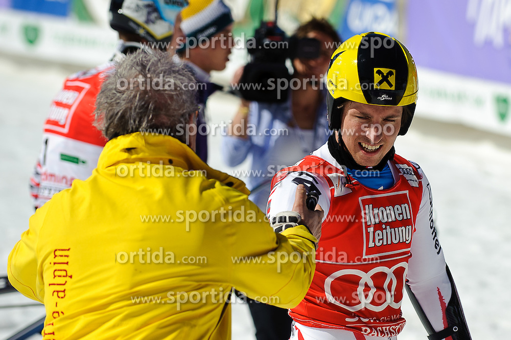 17.03.2012, Planai, Schladming, AUT, FIS Weltcup Ski Alpin, Herren, Riesentorlauf, 2. Lauf, im Bild Marcel Hirscher (AUT) Gewinner im Riesentorlauf- und Gesamtweltcup // Marcel Hirscher of Austria winner of the giant slalom and overall worldcup after second Run of mens giant slalom of FIS Ski Alpine World Cup at 'Planai' course in Schladming, Austria on 2012/03/17. EXPA Pictures © 2012, PhotoCredit: EXPA/ Sandro Zangrando
