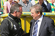 Picture by Paul Chesterton/Focus Images Ltd.  07904 640267.11/9/11.Norwich Manager Paul Lambert and West Brom Manager Roy Hodgson before the Barclays Premier League match at Carrow Road stadium, Norwich.