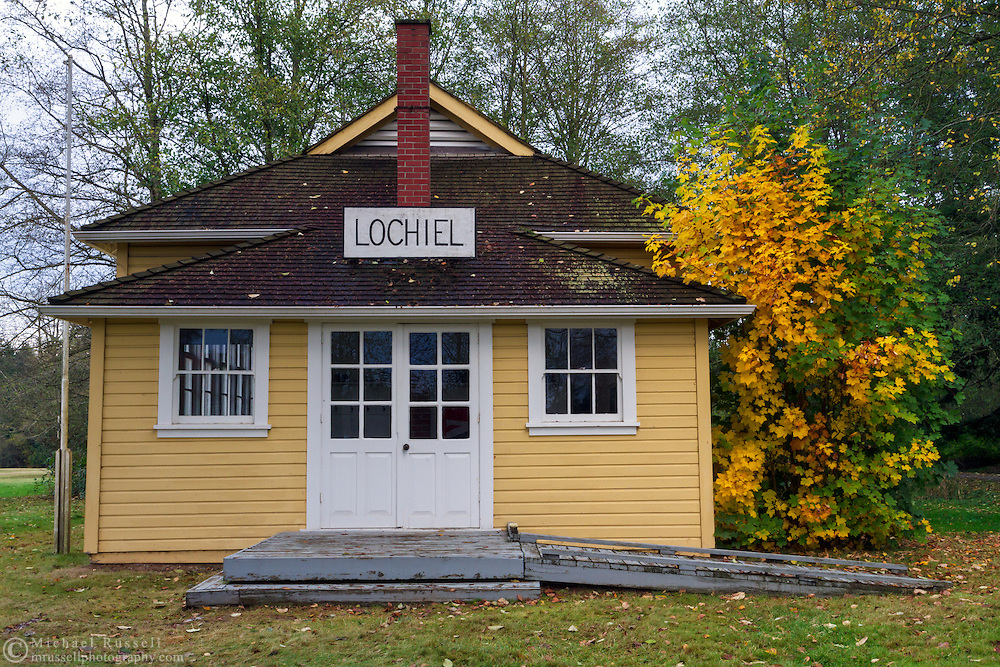 The historic Lochiel Schoolhouse in Langley, British Columbia's Campbell Valley Regional Park