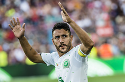 August 7, 2017 - Barcelona, Catalonia, Spain - Chapecoense defender ALAN RUSCHEL, one of the survivors of the air accident in November 2016, where his club lost almost its entire first-team suqad, receives a huge ovation as he takes to the field for the first time since this tragedy (Credit Image: © Matthias Oesterle via ZUMA Wire)