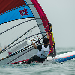 2012 Olympic Games London / Weymouth<br /> RSX man racing day 1 <br /> RS:X MenCHNWang Aichen