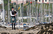 Silvers Marine Scottish Series 2017<br /> Tarbert Loch Fyne - Sailing Day 2<br /> <br /> Piper at the entrance of Tarbert Harbour