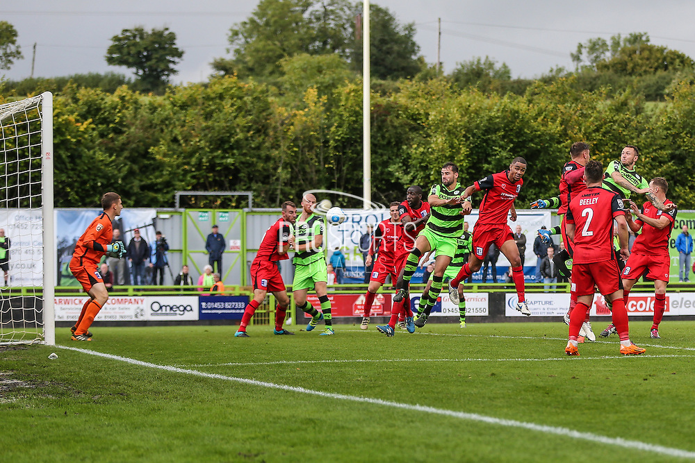 Forest Green corner during the Vanarama National League match between Forest Green Rovers and Barrow at the New Lawn, Forest Green, United Kingdom on 1 October 2016. Photo by Shane Healey.