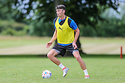 Forest Green Rovers Keiffer Moore during the Forest Green Rovers Training at the Cirencester Agricultural College, Cirencester, United Kingdom on 12 July 2016. Photo by Shane Healey.
