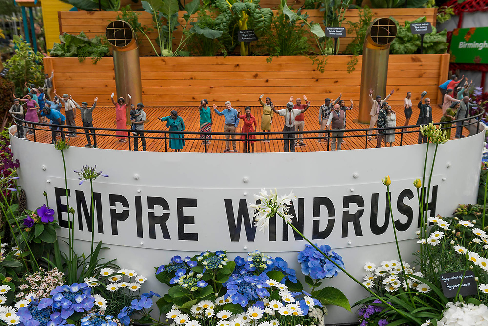 The Windrush Garden by Birmingham City Council and Floella Benjamin - The RHS Chelsea Flower Show at the Royal Hospital, Chelsea.