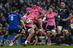 December 16, 2017 - Dublin, Ireland - Jack Nowell of Exeter in action challenged by Luke McGrat (Left) during Leinster vs Exeter Chiefs - the  European Rugby Champions Cup rugby match at Aviva Stadium...On Saturday, 16 December 2017, in Dublin, Ireland. (Credit Image: © Artur Widak/NurPhoto via ZUMA Press)